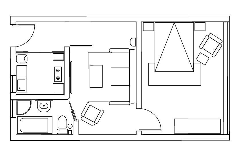 36平米小户型中式风格与简约风格