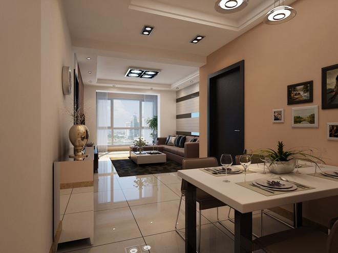 87平两居室现代简约风格装修