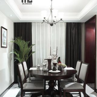 简约美式风格设计-亚运村公寓样板房