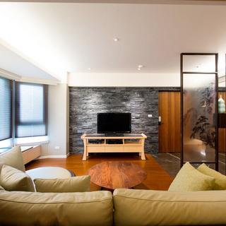 绿意环抱的66平米日式休闲一居室