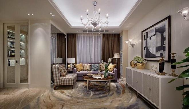 上海松江区230平现代简欧风格联排别墅装修实景图