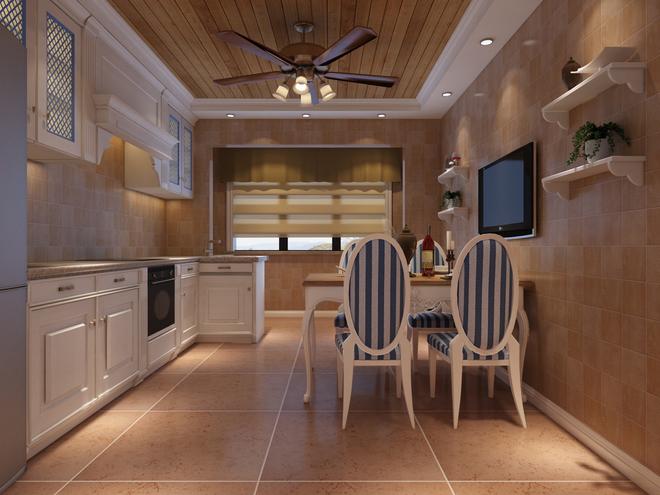 客厅的电视背景采用的是文化石,沙发背景用欧式石膏平线,壁纸,漆做
