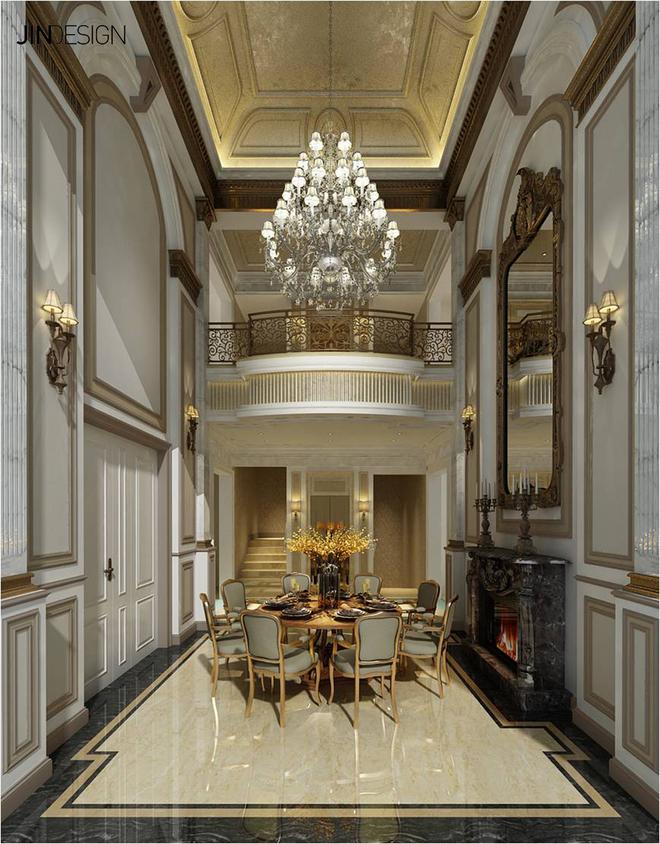细节处理上运用了法式廊柱,雕花,线条,制作工艺精细考究.图片