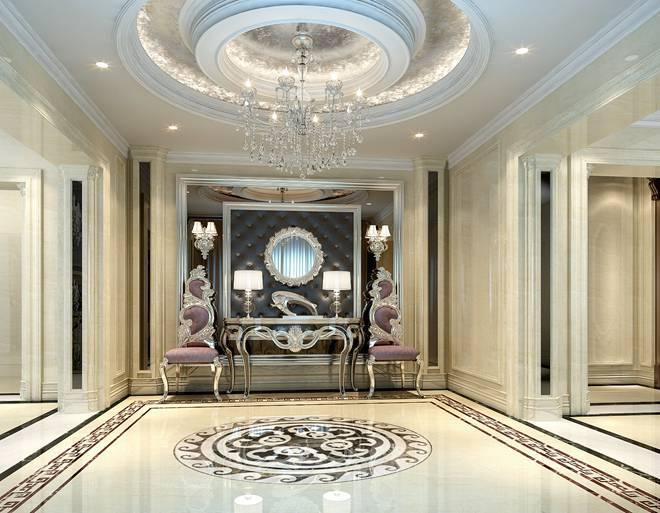 """欧式新古典风格  龙城丽宫 典雅""""家""""别墅装修设计 设计风格:欧式新图片"""
