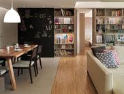 简约风 开敞式书房+黑板墙