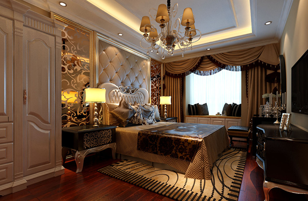 102平米两居室新古典欧式风格设计