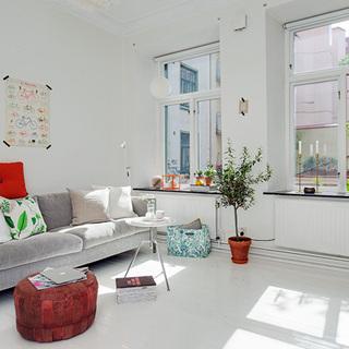 100平米北欧风格简约而性感的一室一厅