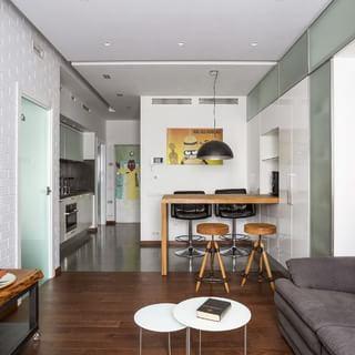 玻璃+金属 43平米现代风一居