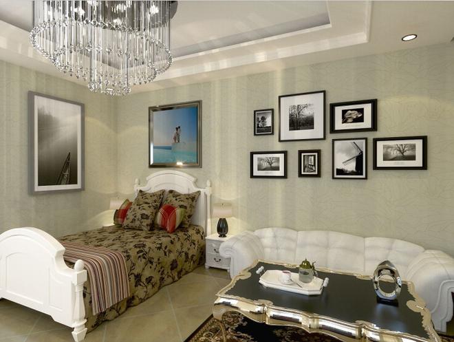 2016年欧式小型客厅装修开放式