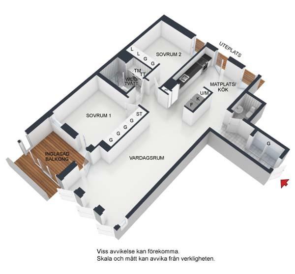 哥德堡让人惊喜的现代时尚公寓装修效果图