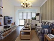 72平婚房设计 地中海美式混搭风格