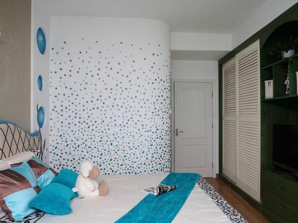 蓝色畅想地中海阳光两居室装修效果图