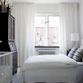 40-60平米一居北欧风格卧室装修效果图大全2015图片
