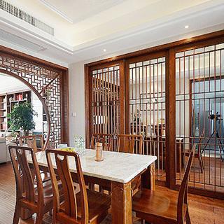 新中式风格餐厅隔断装修效果图大全2015图片-搜狐家居