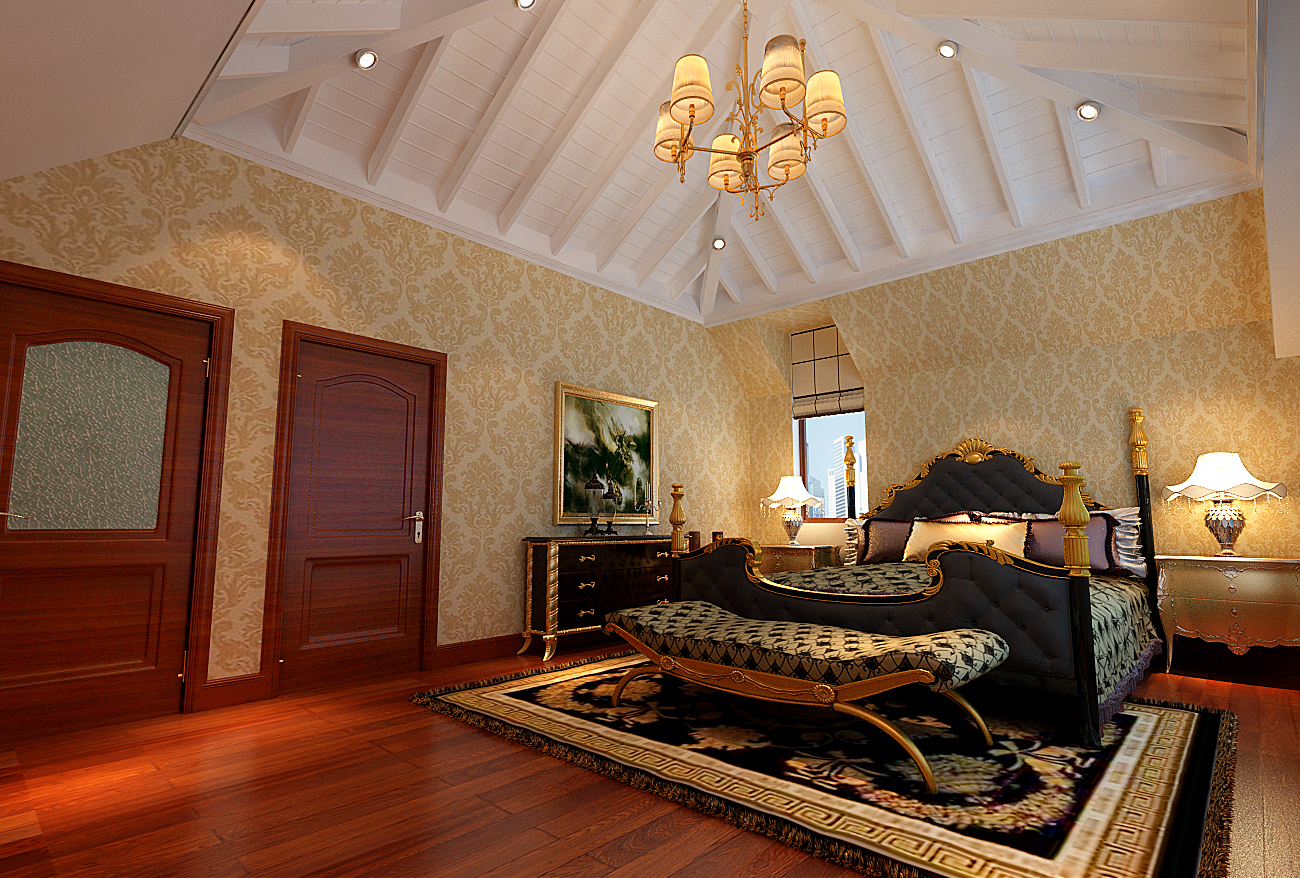 欧郡香水城装修345平米新古典欧式别墅效果图