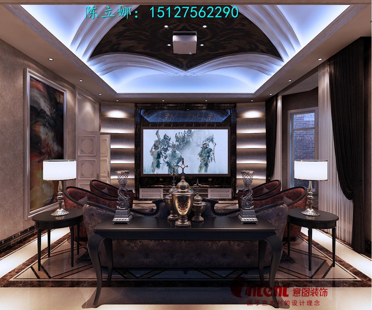 唐城壹零壹340平米简欧风格联排别墅设计装修效果图案例