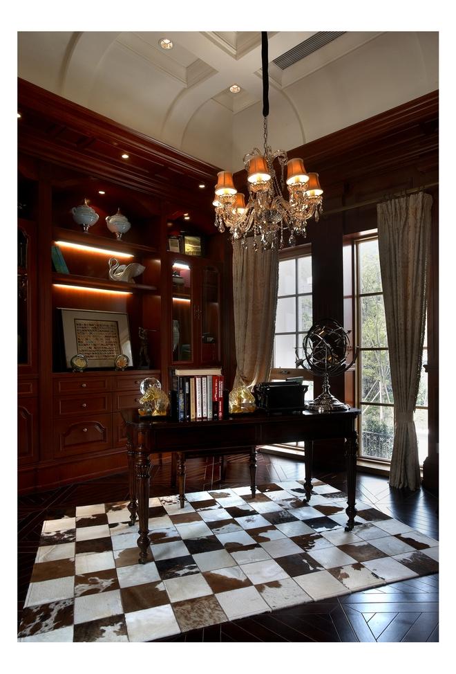 480平豪华别墅美式风格装修案例图片