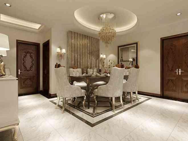 大房子配欧式最传统的搭配方式,本套方案整体设计特色是把 玫瑰金钢条