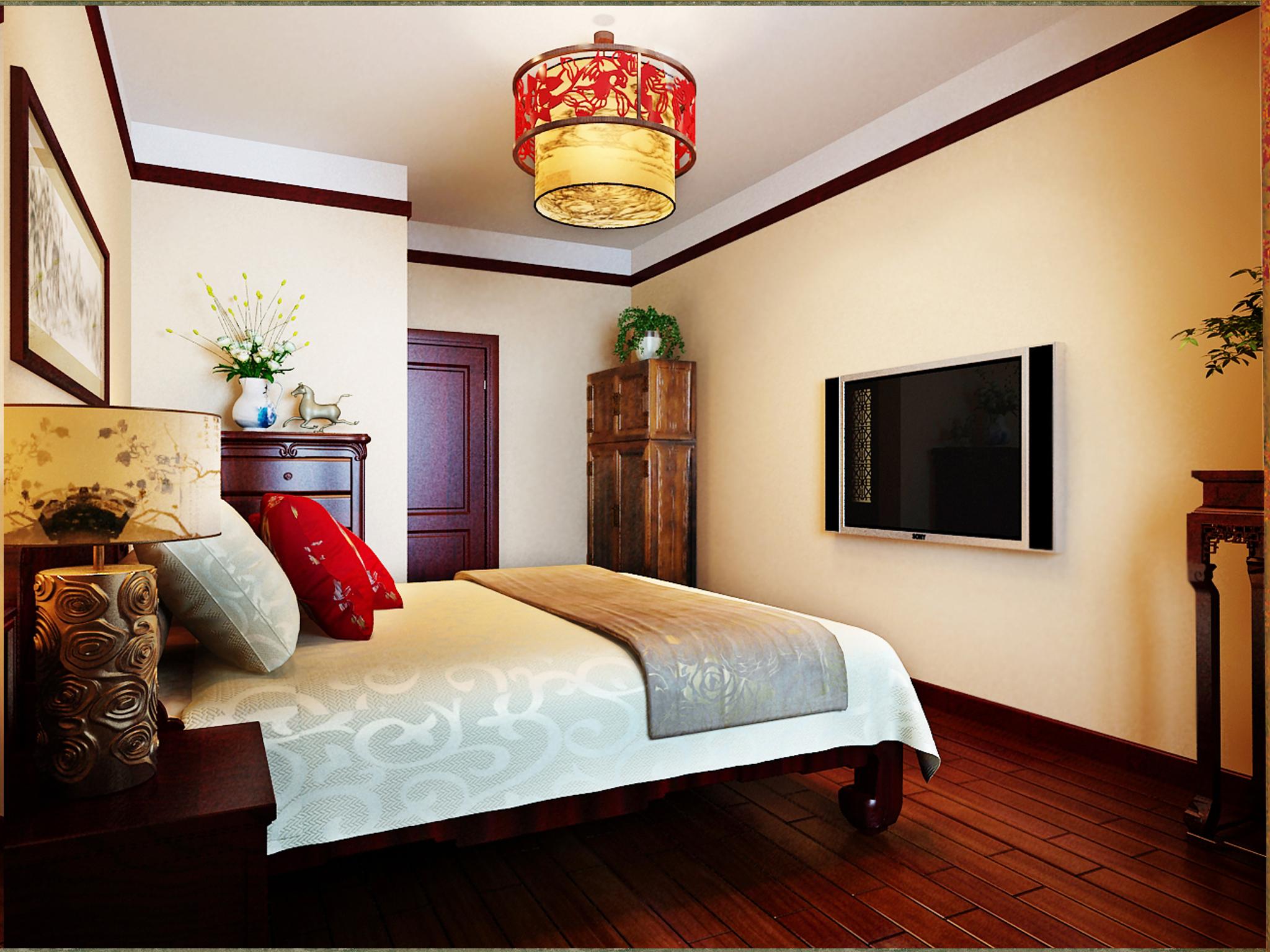 中式客房布置图片大全
