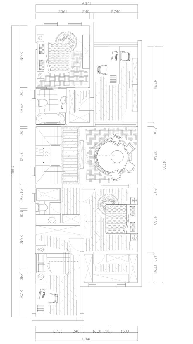 人工画水电设计图纸