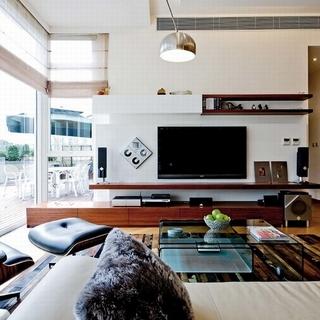 二居现代风格白色客厅装修效果图大全2015图片-搜狐