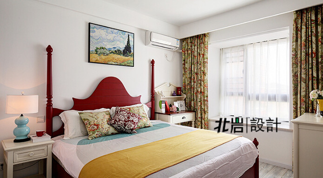 清浅时光 90平米清新美式两室两厅装修效果图