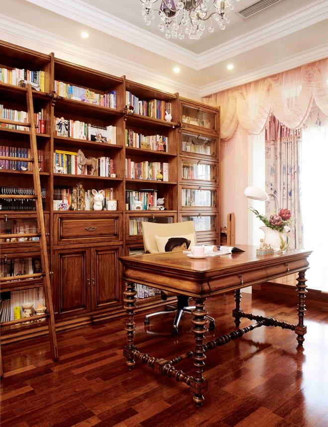 欧式书房加茶室