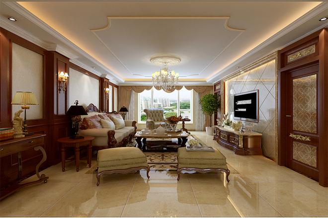 应业主需要设计成欧式风格,力求每一处空间的规整和对称,入户女儿房门