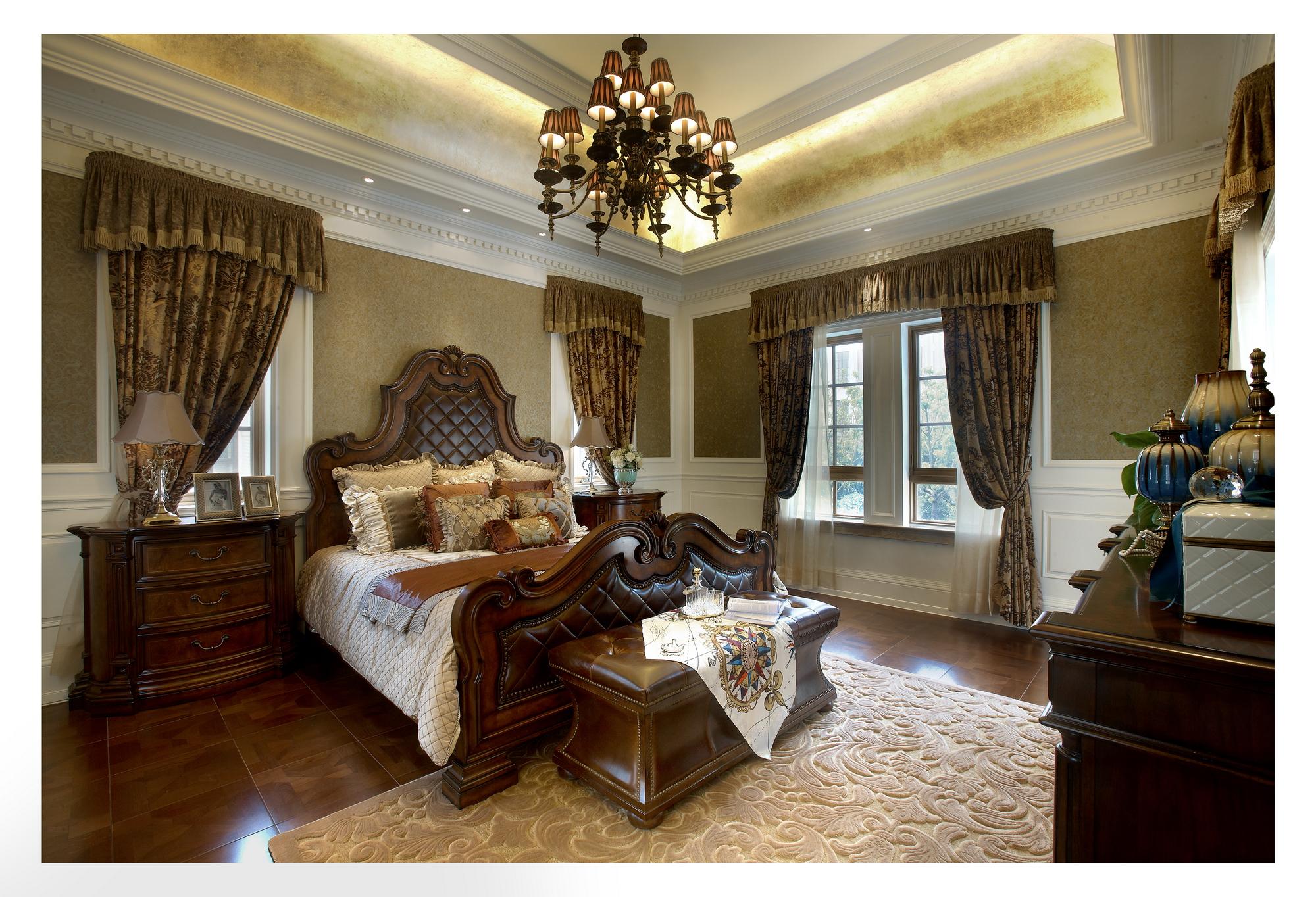 480平豪华别墅美式风格装修案例