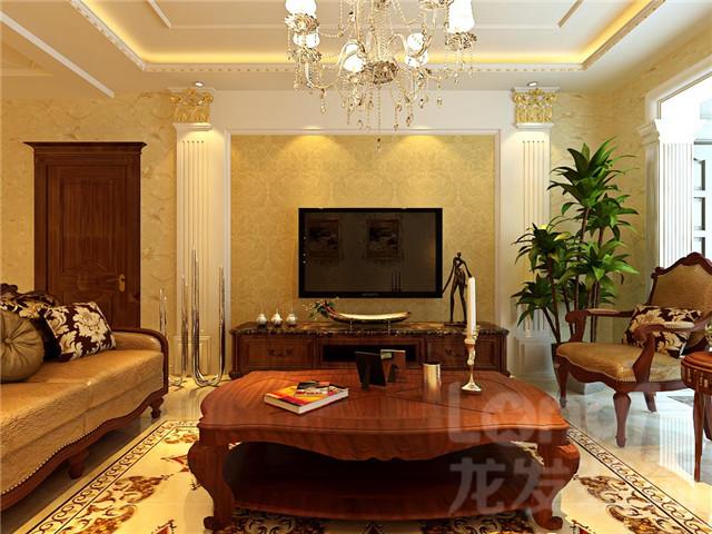 风格定义:欧式古典风格 户型面积:4室2厅3卫1厨200平  装修预算:基础