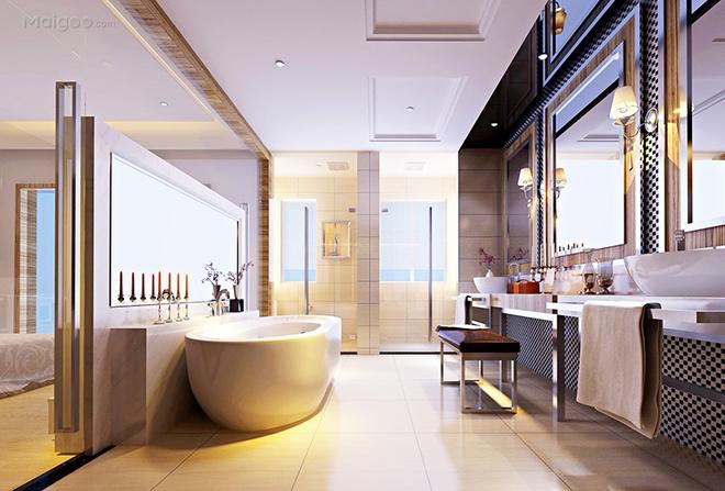 500平米别墅装修设计效果图|龙发装饰