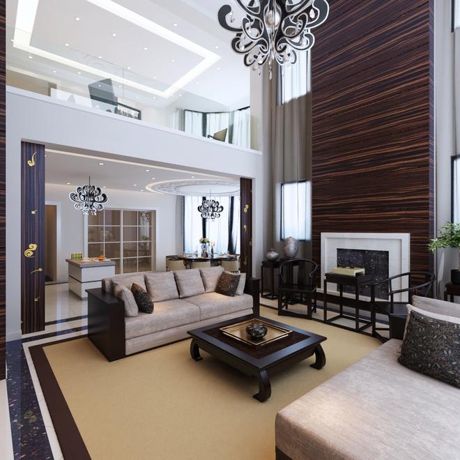 温哥华森林新中式风格独栋别墅装修效果图