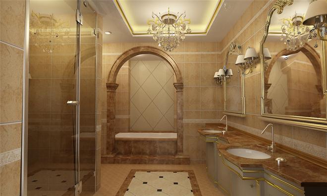 欧式套间厕所采光