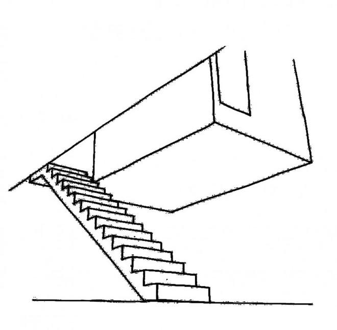 楼梯简笔画 上下楼梯靠右行简笔画 楼梯的画法简笔画图片