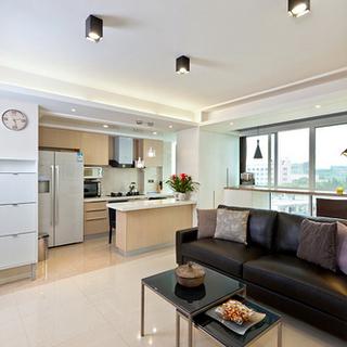 55平小户型装修两室一厅 榻榻米飘窗绝妙装修案例15574363651