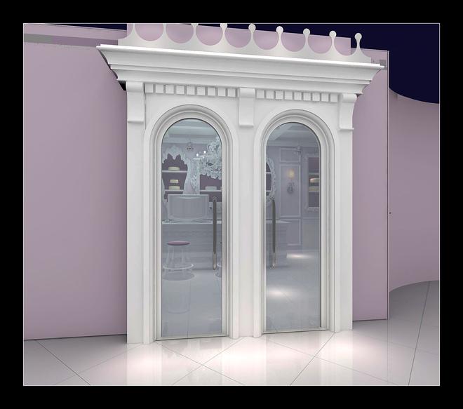 本案位于北京市朝阳区建外SOHO,建筑面积40平米。主要经营杯糕糕点。整体风格定位为欧式简约风格。功能分区分为售卖区和操作区。整体结构包裹于咖啡厅中,设计为开放式结构,门头用欧式线条勾勒出风格主题,进门直对售卖区。售卖区整体颜色设计为绿色,金色画框为背景主题,突出展架。