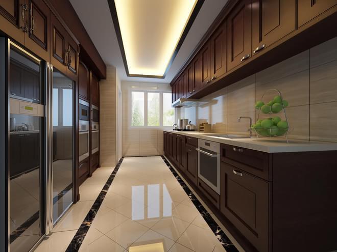 设计说明: 本案设计风格为中式新古典,它既保留了传统中式的优美的外表元素,又有着现代风格的优雅高贵,也很符合中国人的审美价值。色彩的变幻和多元素的融合是简约的经典理念.在家具配置上,黑橡系列家具,独特的工艺使家具倍感时尚,具有舒适与美观并存的享受。在配饰上,以黑白为主色调,以简洁的造型、完美的细节,营造出时尚前卫典雅的感觉。装修的简约一定要从务实出发,切忌盲目跟风而不考虑其他的因素。新古典欧式的背后也体现一种现代消费观。即注重生活品位、注重健康时尚、注重合理节约科学消费。 客厅经过精心布置利用鱼缸的景观