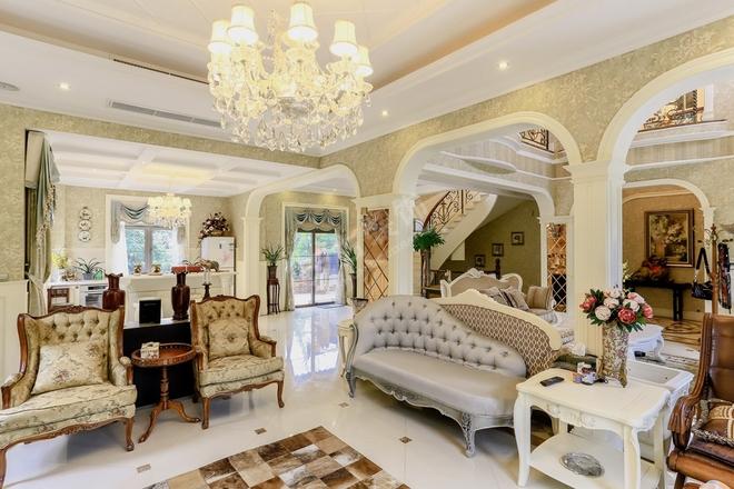 重庆法式别墅-常青藤装修案例;天古装饰梦空间别墅作品展示