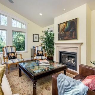 150-200平米别墅风格客厅壁炉装修效果图大全2015图片