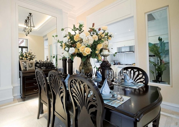 现代美式三居室 整洁宽敞明亮装修效果图