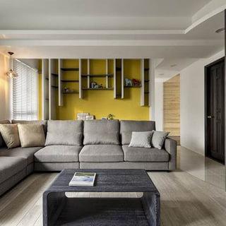 80-100平米三居现代风格灰色装修效果图大全2015图片