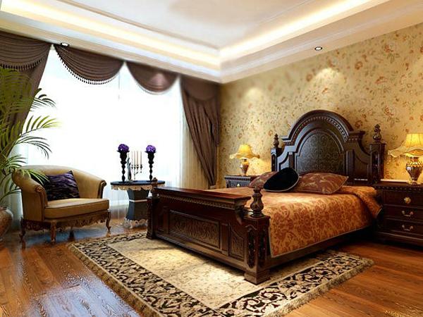 客厅的亮点在于电视背景墙,做了拱形的石膏板造型,烘托了欧式的优雅.图片