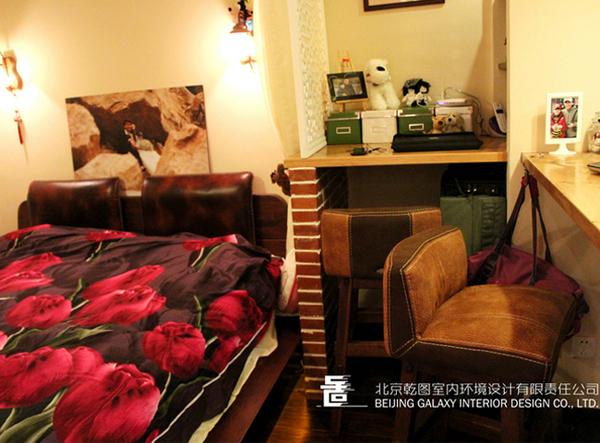 40平米东南亚风格迷你一居室装修效果图