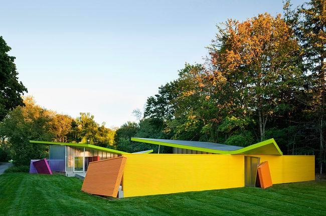 颜色如调色板般的小屋