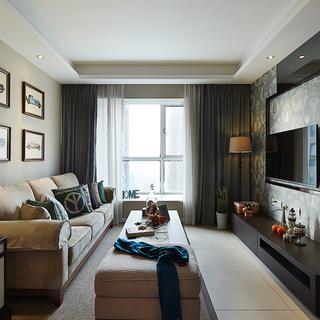 竹海水韵一一90平米现代美式混搭三室两厅