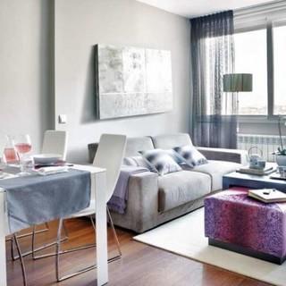 粉紫调 45平米时尚公寓装修