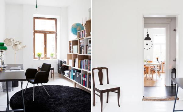 以厨房为重心的 80平米瑞典北欧风公寓装修效果图