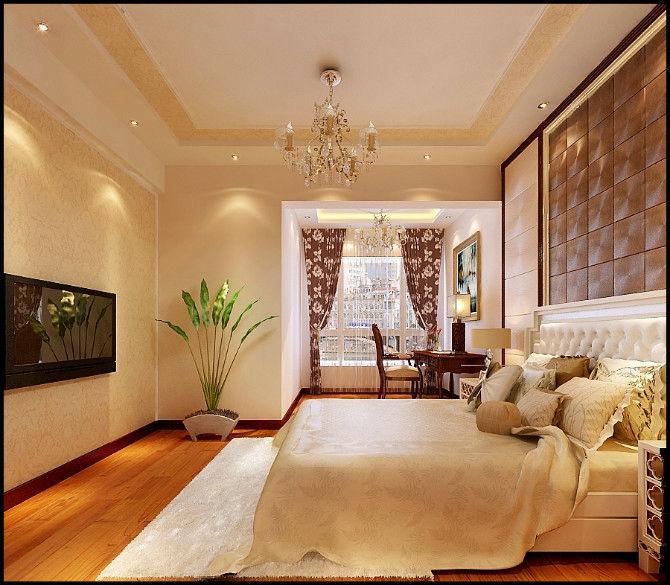 三居室美式装修 高清图片