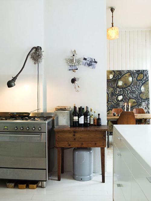 挪威式复古混搭风格两居室装修效果图