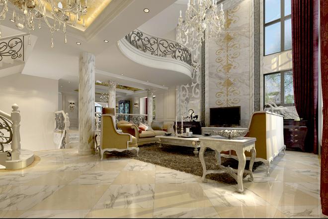檀香山 新古典风格别墅装修的灵动与简约 杨振忠 这是灵动的新古典主义风格的别墅装修设计案例,一层到三层逐渐由活动区向休息区过度,地下一层则是主要的娱乐空间。空间的功能划分明显,公共区域简洁大方,私密空间充满浪漫清新,灵动的线条充斥在整个设计体系中,展现出异样的简约和灵动。 步入别墅,简单的门厅展现眼前,白色系作为主色系,中间点缀灵动的红色装饰,带来潺潺的流动气息。 门厅的右侧就是客厅,客厅依旧是白色与金色系,线条更加自然质朴。传统的欧式螺旋花纹较多的应用在这个挑高的客厅空间,盘旋而上,引人入胜。 作为公共
